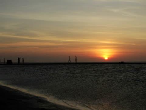 T/L, WS, Jericoacoara beach at sunset, Brazil