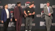Jerry Ferrara Adrian Grenier Mark Wahlberg and Kevin Dillon at the 2014 MTV Movie Awards at Nokia Theatre LA Live on April 13 2014 in Los Angeles...