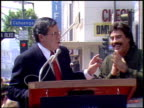 Jerry Lewis at the Dediction of Tony Orlando's Walk of Fame Star at the Hollywood Walk of Fame in Hollywood California on March 21 1990