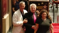 Jerry Mitchell Harvey Fierstein and Marissa Jaret Winokur at Hollywood Walk Of Fame on April 11 2016 in Hollywood California
