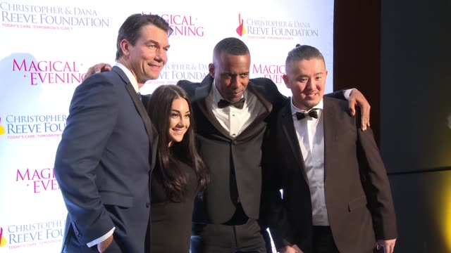 Jerry O'Connell Nicole Adamo DJ Whoo Kid at THE CHRISTOPHER DANA REEVE FOUNDATION HOST 'A MAGICAL EVENING' GALA at The Conrad New York on November 16...