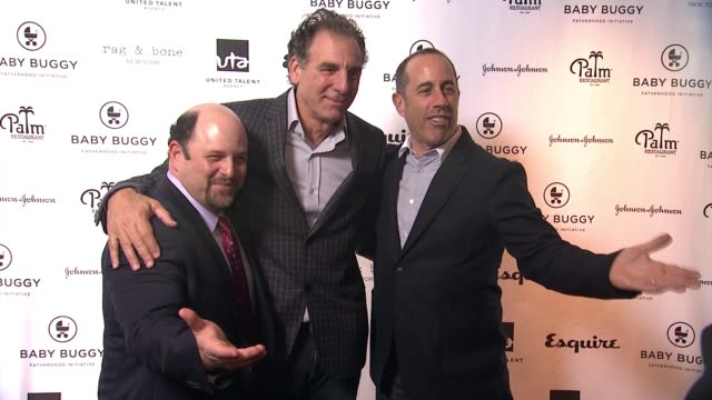 CHYRON Jerry Seinfeld Hosts Inaugural Baby Buggy Fatherhood Lunch in Los Angeles CA