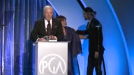 SPEECH Jerry Weintraub at 25th Annual Producers Guild Awards in Los Angeles CA