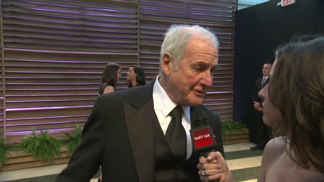 INTERVIEW Jerry Weintraub at the 2014 Vanity Fair Oscar Party Hosted By Graydon Carter Arrivals on March 02 2014 in West Hollywood California