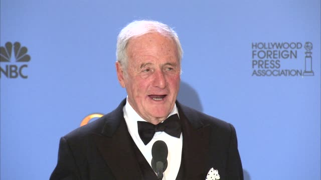INTERVIEW Jerry Weintraub at the 71st Annual Golden Globe Awards Press Room on at The Beverly Hilton Hotel CA