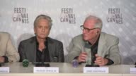 INTERVIEW Jerry Weintraub Michael Douglas on their experiences of meeting Liberache at 'Behind the Candleabra' Press Conference at Palais des...