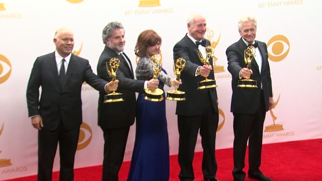 Jerry Weintraub Michael Polaire Gregory Jacobs Susan Ekins and Michael Douglas at 65th Annual Primetime Emmy Awards Photo Room Jerry Weintraub...
