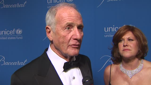 Jerry Weintraub on how it feels to be honored on his partners for Not On Our Watch and what the group does and on why he believes in UNICEF at the...