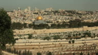 Jerusalem Skyline and Golden Dome of the Rock in Israel
