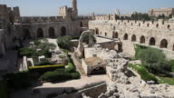 Jerusalem, view of the tower of David (Migdal David), the Jerusalem Citadel