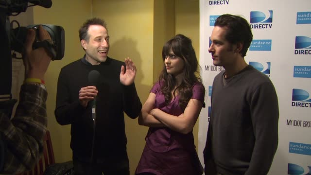 Jesse Peretz Zooey Deschanel Paul Rudd at the DIRECTV hosts the premiere dinner for the cast of MY IDIOT BROTHER starring Paul Rudd at the 2011...
