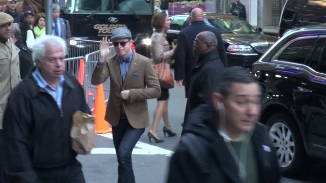 Jesse Tyler Ferguson arrives at Good Morning America in New York NY on 5/14/13