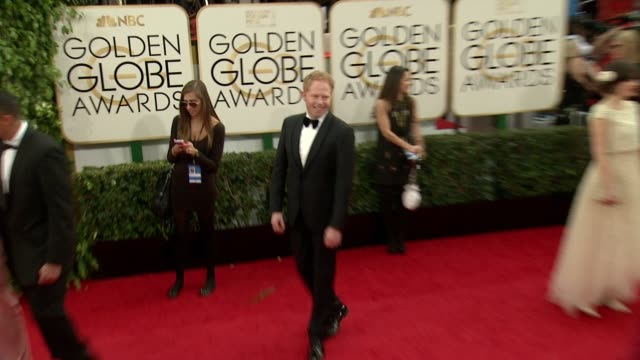 Jesse Tyler Ferguson at the 71st Annual Golden Globe Awards Arrivals at The Beverly Hilton Hotel on in Beverly Hills California