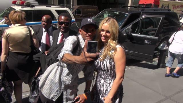 Jessica Barth at SiriusXM Satellite Radio Celebrity Sightings in New York on June 22 2015 in New York City New York