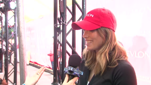 Jessica Biel at the 12th Annual EIF Revlon Run/Walk for Women in New York City at New York NY