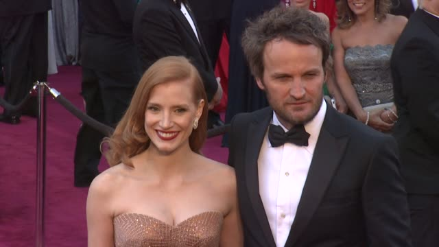 Jessica Chastain and Jason Clarke at 85th Annual Academy Awards Arrivals in Hollywood CA on 2/24/13