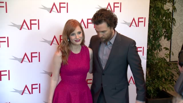 Jessica Chastain and Matthew McConaughey at 2015 AFI Awards Luncheon at The Four Seasons Hotel on January 09 2015 in Beverly Hills California