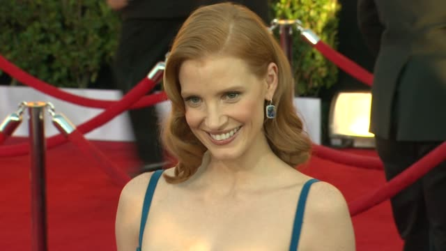 Jessica Chastain at 18th Annual Screen Actors Guild Awards Arrivals on 1/29/12 in Los Angeles CA