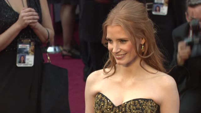 Jessica Chastain at 84th Annual Academy Awards Arrivals on 2/26/12 in Hollywood CA