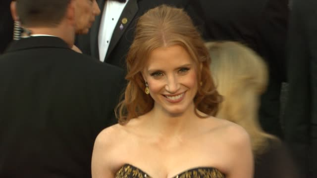 Jessica Chastain at 84th Annual Academy Awards Arrivals on 2/26/2012 in Hollywood CA