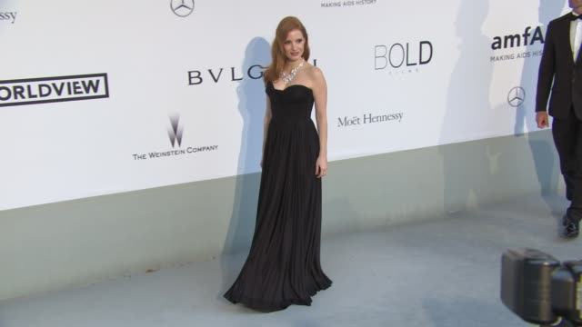 Jessica Chastain at AmfAR Red Carpet at Hotel du CapEdenRoc on May 22 2014 in Cap d'Antibes France