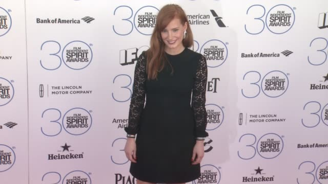 Jessica Chastain at the 30th Annual Film Independent Spirit Awards Arrivals at Santa Monica Beach on February 21 2015 in Santa Monica California