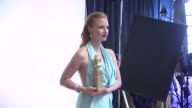 Jessica Chastain at the 70th Annual Golden Globe Awards Backstage in Beverly Hills CA on 1/13/13