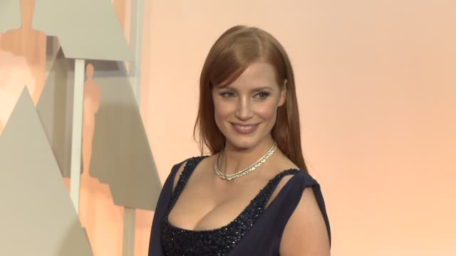 Jessica Chastain at the 87th Annual Academy Awards Arrivals at Dolby Theatre on February 22 2015 in Hollywood California