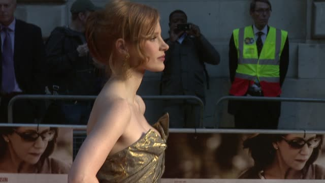 Jessica Chastain at the The Debt UK Premiere at London England