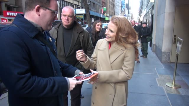 Jessica Chastain at the 'TODAY' show studio in New York NY on 1/18/13