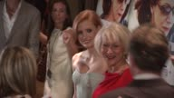 Jessica Chastain Helen Mirren at the 'The Debt' New York Premiere at New York NY