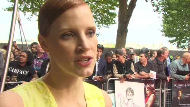 INTERVIEW Jessica Chastain on her role how it was her big break working with Al Pacino if she would do theatre in London at 'Salome And Wilde Salome'...