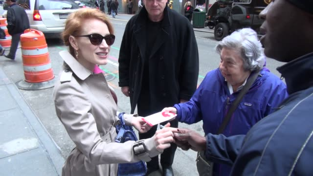 Jessica Chastain outside the Walter Kerr Theater in New York NY on 1/9/13