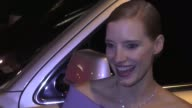 INTERVIEW Jessica Chastain talks about Eddie Redmayne playing her in a movie outside the Sunset Tower in West Hollywood in Celebrity Sightings in Los...