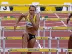 Jessica Ennis wins the 100m Hurdles at the Ariva British Grand Prix