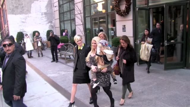 Jessica Simpson and Ashlee Simpson at the Crosby Street Hotel in New York on 12/1/2011