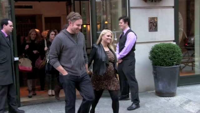 Jessica Simpson Eric Johnson and Ashlee Simpson at the Crosby Street Hotel in New York on 12/1/2011