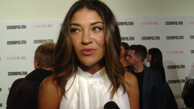 INTERVIEW Jessica Szohr on being a fan of Cosmopolitan her best romantic advice at Cosmopolitan Magazine's 50th Birthday Celebration in Los Angeles CA