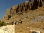 Jesus and the Disciples walking on Mount Arbel