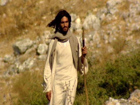 Jesus walking in Mount Arbel