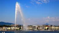 jet d'eau Brunnen in Genf