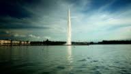 Jet D'eau Genfer See im Sommer
