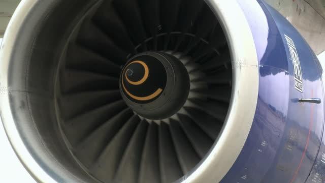 CU Jet engine rotor slowly spinning, London, United Kingdom
