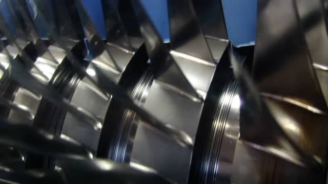 Jet engine turbine Schnitt offene HD-Videos