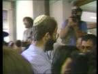 Jewish group jailed for Palestine students murder ISRAEL Jerusalem MS Defendants out of van arriving at court CMS Defendant eating bread CMS Relative...