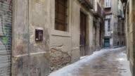 Jewish quarter, stone palque with Hebrew inscription, Barcelona