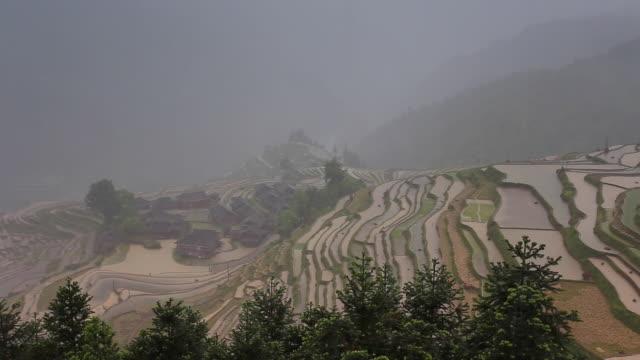 Jiaban terrassierten Felder in Congjiang, Guizhou, China