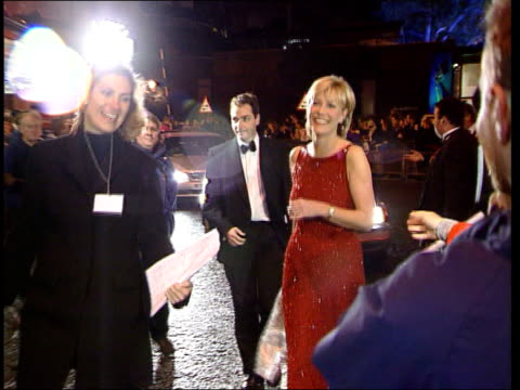 No New Breakthroughs ITN LIB ENGLAND London Murdered television presenter Jill Dando along to television awards wearing red sequinned dress ITN LIB...