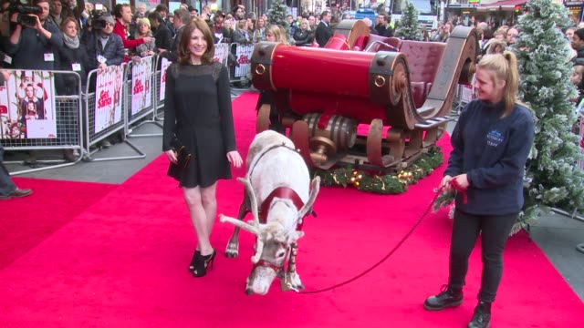 Jim Broadbent Warwick Davis Rafe Spall Kit Connor Jodie Whittaker at Get Santa World Premiere on 30th November 2014 in London England