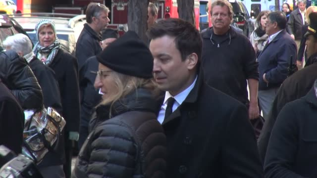 Jimmy Fallon and Annie Leibovitz on a photo shoot at NBC Studios at Celebrity Sightings in New York in New York NY on